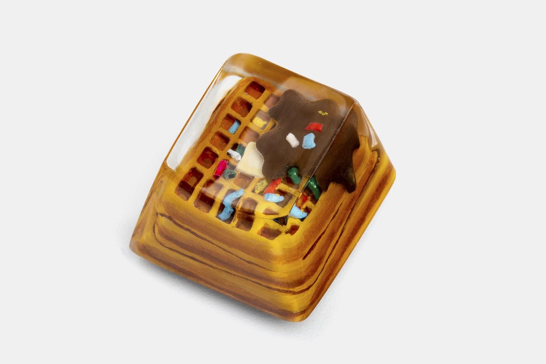 Dwarf Factory Foodie Artisan Keycap - Fluffy Waffle (OEM/Cover)